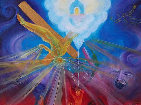 Anne Cameron Cutri - Yaweh El Shaddai Center Canvas detail