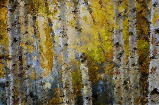 Yellow Aspens by Marilyn Sholin