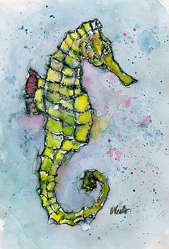 Yellow Seahorse by Bev Veals
