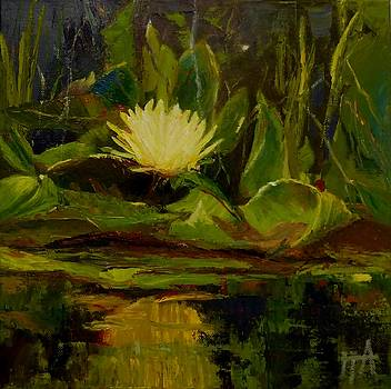 SOLD Yellow WaterLily by Irena  Jablonski