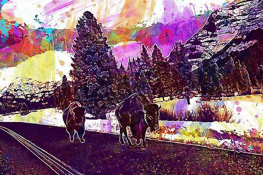 Yellowstone National Park Travel  by PixBreak Art