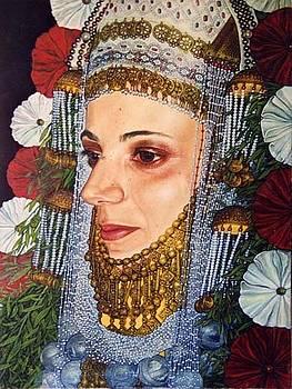 Yemenite Jewish Bride by Giora Eshkol
