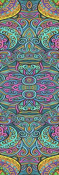 Yoga Mat swirly design 2 by Stephen Humphries