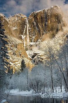 Yosemite Falls in Winter by Tibor Vari