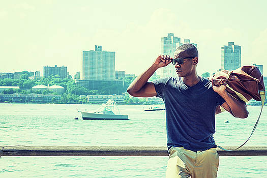 Young African American Man traveling in New York 17061821 by Alexander Image