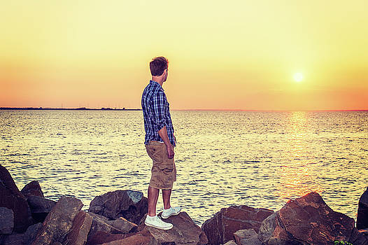 Alexander Image - Young Man Watching Sunset