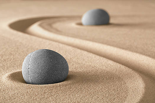 Zen Garden Meditation Stone by Dirk Ercken