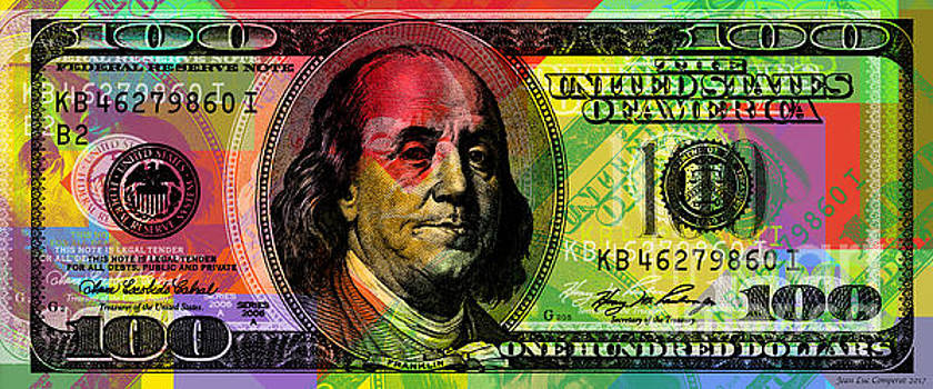 Benjamin Franklin - Full size $100 bank note by Jean luc Comperat