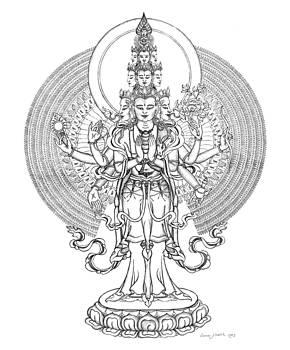 1000-Armed Avalokiteshvara by Carmen Mensink