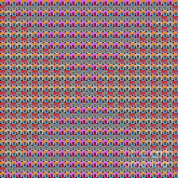 1000 Buddhas Pop Art - 2 by Jean luc Comperat