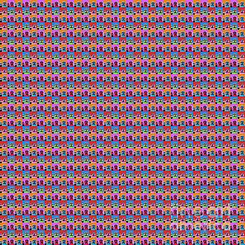 1000 Buddhas Pop Art by Jean luc Comperat