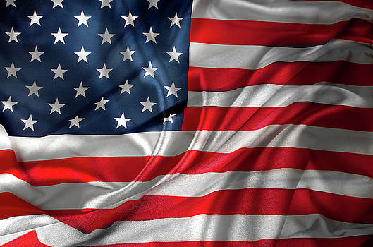 USA flag 1 by Les Cunliffe
