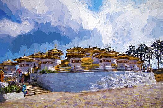 108 Stupas by Pravine Chester