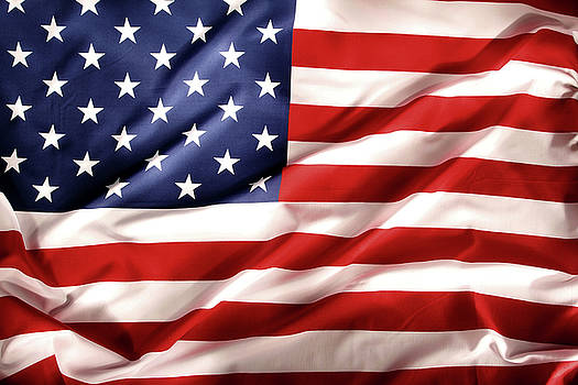 USA flag 9 by Les Cunliffe