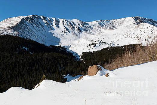Steve Krull - Summit of Mount Elbert Colorado in Winter