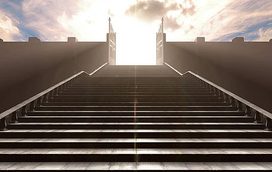 The Stairs To Heavens Gates by Allan Swart