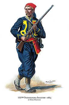 155th Pennsylvania Infantry by Mark Maritato