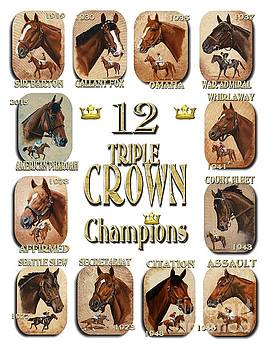 12 Triple Crown Champions by Pat DeLong