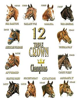 12 Triple Crown winners by Pat DeLong
