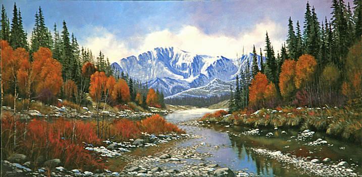 120310-1836  An Easy Crossing - Pikes Peak by Kenneth Shanika