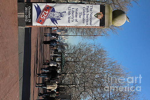 Chuck Kuhn - 125th year Statue of Liberty Banner
