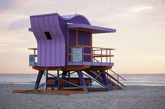 12th Street Lifeguard Tower by Art Block Collections