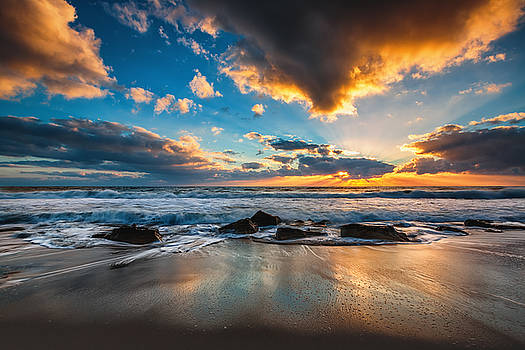 Beautiful cloudscape over the sea by Valentin Valkov