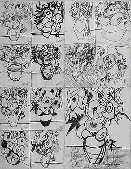 13 Sunflowers by Dominic Fetherston