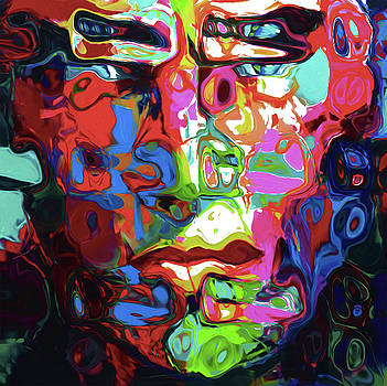 132 Abstract Face by Nixo by Nicholas Nixo