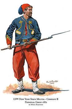 13th New York State Militia - Company B - National Greys  by Mark Maritato