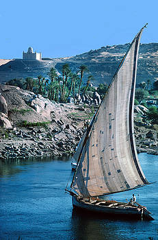 Falucca on the Nile by Carl Purcell