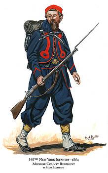 140th New York Infantry Zouave - Monroe County Regiment by Mark Maritato