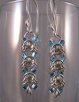 Dianne Brooks - 1418 Aqua Emprezza Earrings