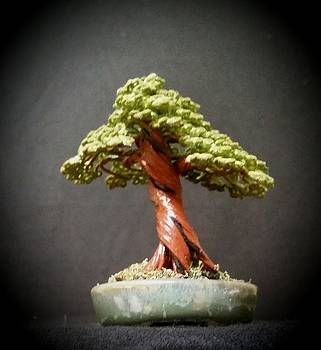 #145 Cloth Wrapped Wire Tree Sculpture by Ricks Tree Art