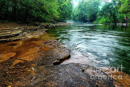 Cherry Falls Elk River by Thomas R Fletcher