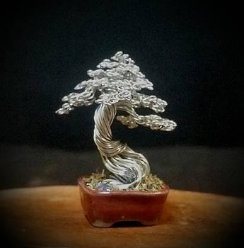 #152 Simple silver by Ricks Tree Art