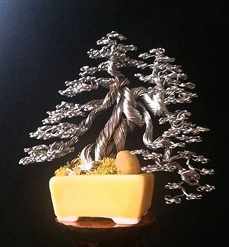 #158 Dragon Tree wire tree sculpture by Ricks Tree Art