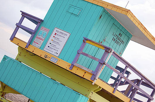 15th Street Lifeguard Tower by Art Block Collections