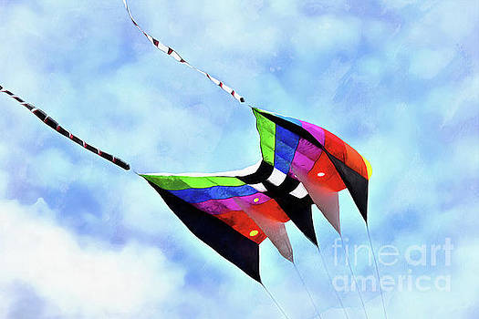 Kite flying during Kite festival by George Atsametakis