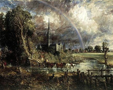 Salisbury Cathedral From The Meadows by Troy Caperton