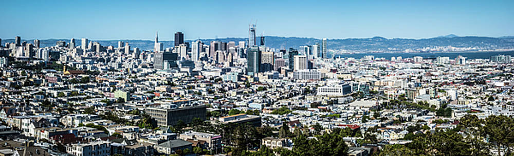 San Francisco California Downtown And Surroundings by Alex Grichenko