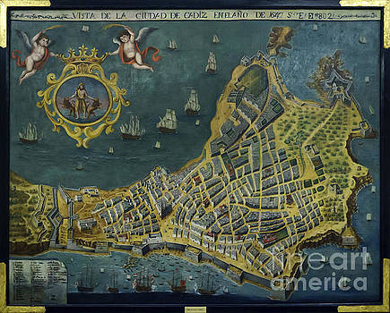1647 View of the City of Cadiz Anonymous Painting Photographed by Pablo Avanzini