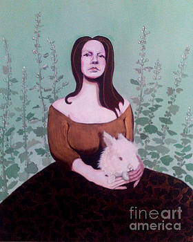 16x20 Full Size Portrait with Bunny by Dia T