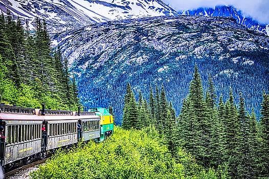 SKAGWAY, ALASKA, USA - JUNE 2017 - Alaskan Canadian White Pass t by Alex Grichenko