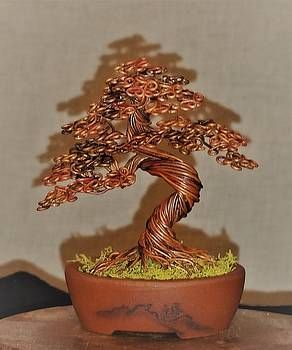 #170 Annealed Copper Wire Tree Sculpture by Ricks Tree Art
