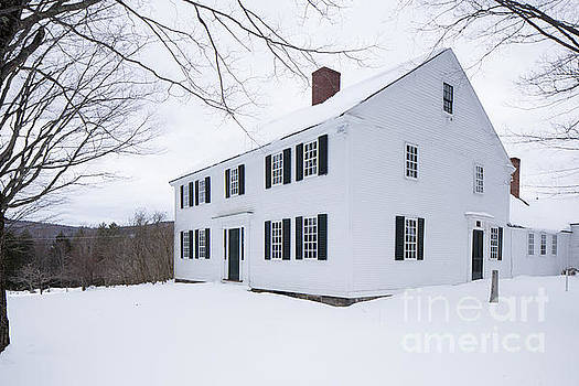 1800 White Colonial Home by Edward Fielding