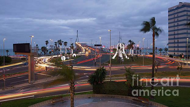 1812 Bridge Roundabout Traffic Lights Cadiz Spain by Pablo Avanzini