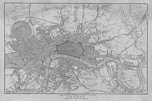 Toby McGuire - 1815 London Map Black and White