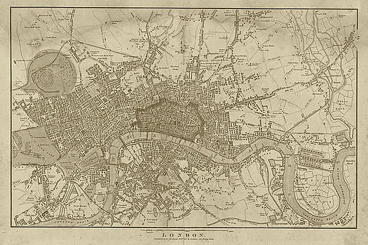 Toby McGuire - 1815 London Map Sepia