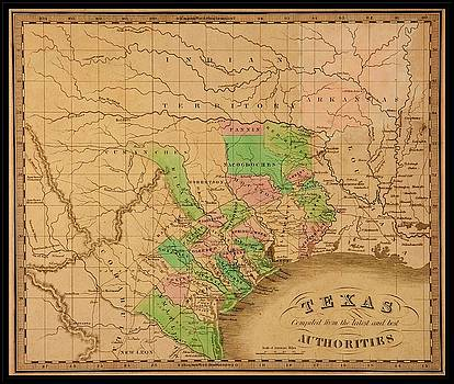Peter Ogden - 1842 Jeremiah Greenleaf Pioneer Map of Texas with Forts and Indian Lands